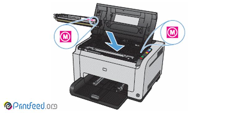 تعویض کارتریج پرینتر HP CP1025