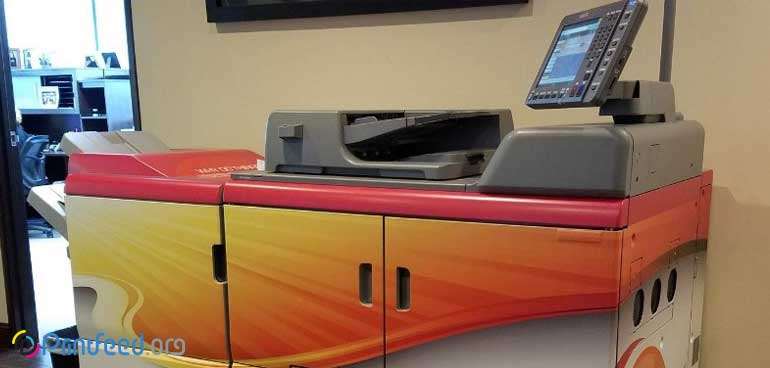 بهم ریختگی رنگ در دستگاه کپی