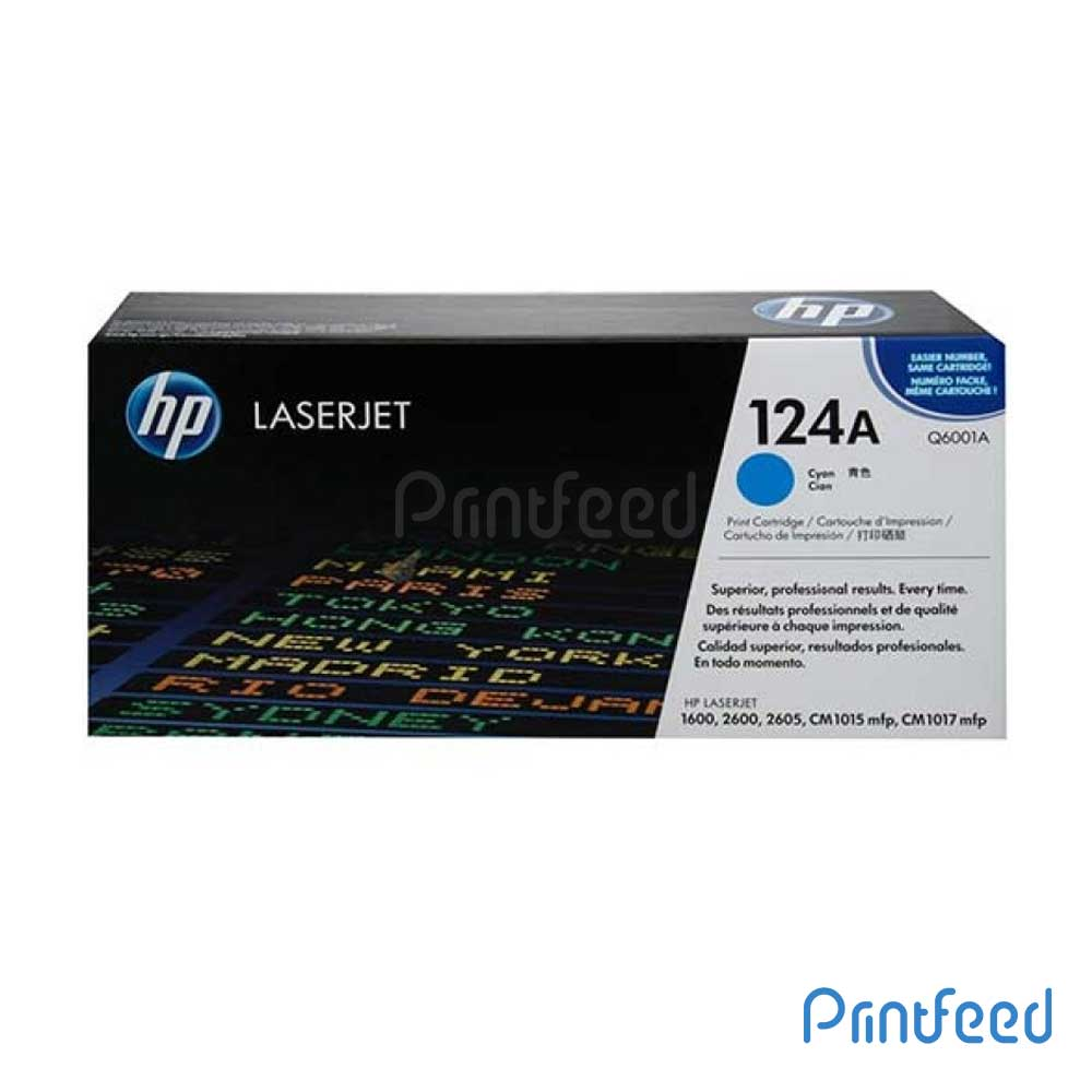 HP 124A Color Laserjet Cyan cartridge