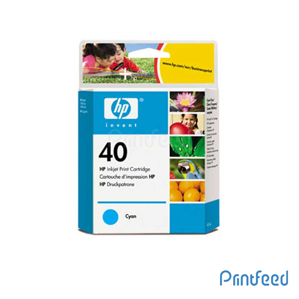 HP 40 Cyan Inkjet Print Cartridge