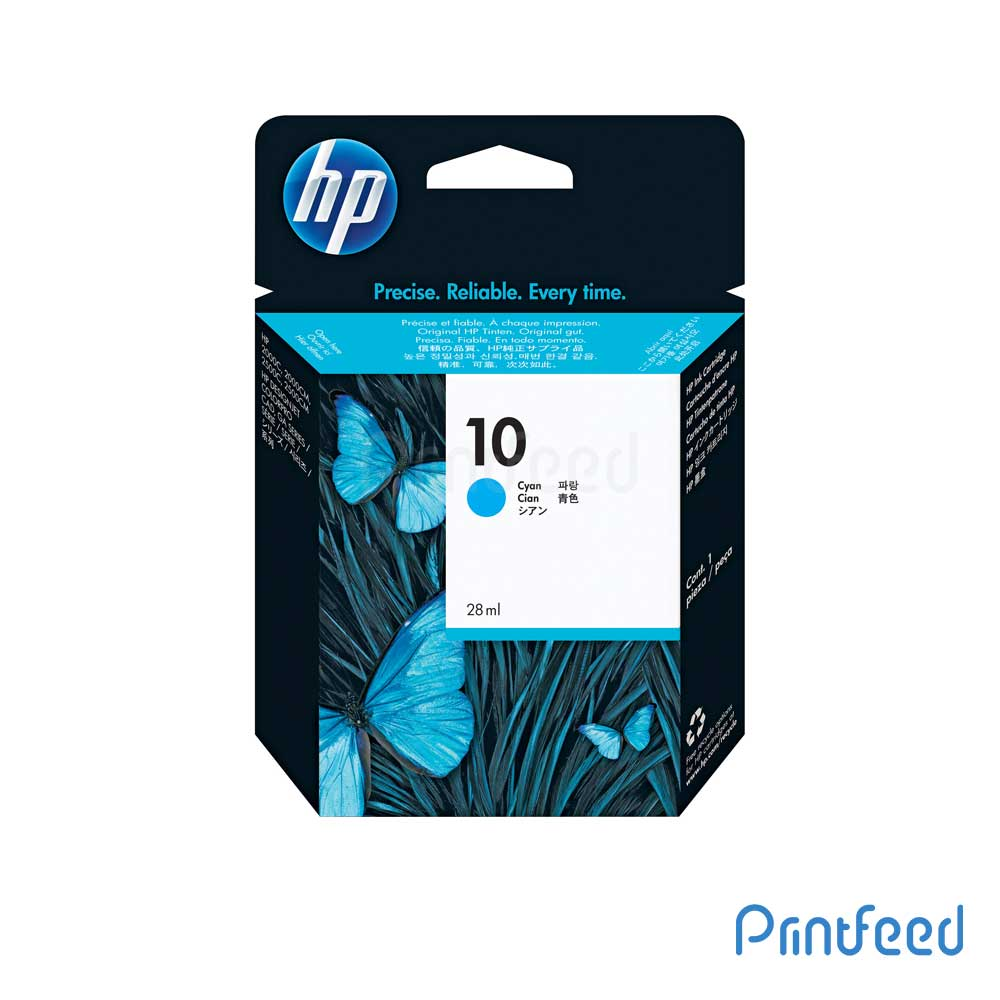 HP 10 Cyan Inkjet Print Cartridge