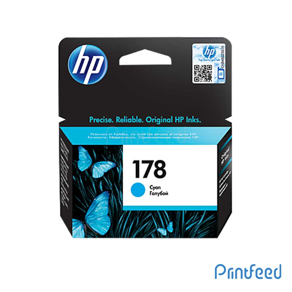HP 178 Cyan Inkjet Print Cartridge