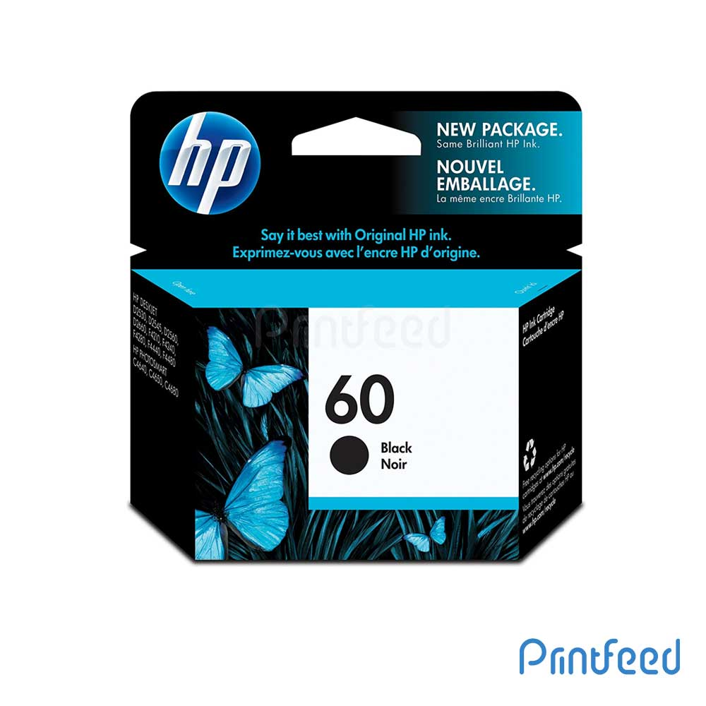 HP 60 Black Inkjet Print Cartridge