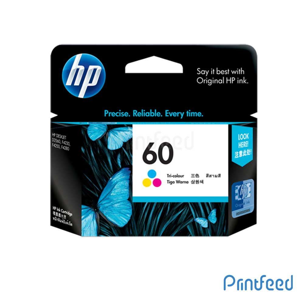 HP 60 Tri-Color Inkjet Print Cartridge