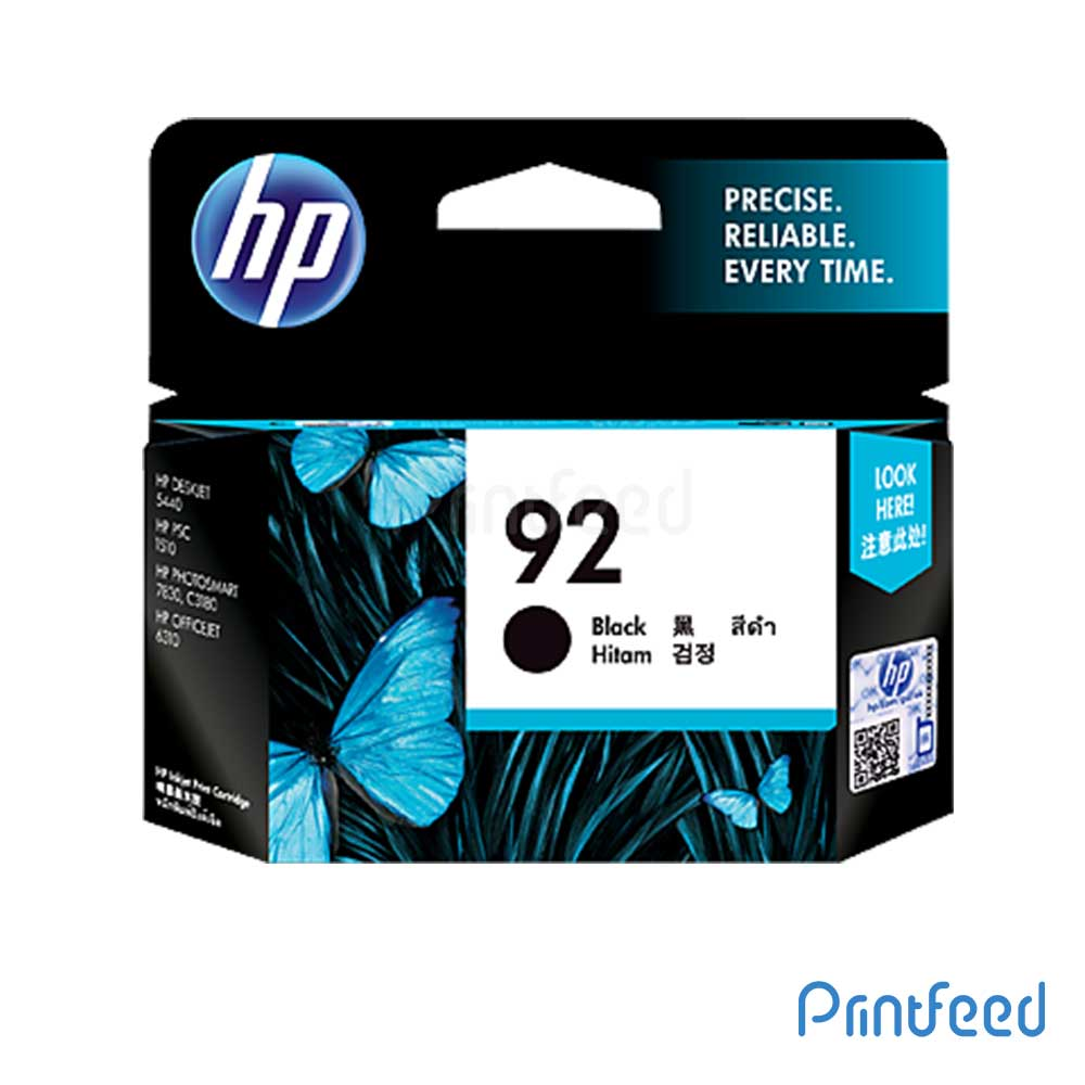 HP 92 Black Inkjet Print Cartridge