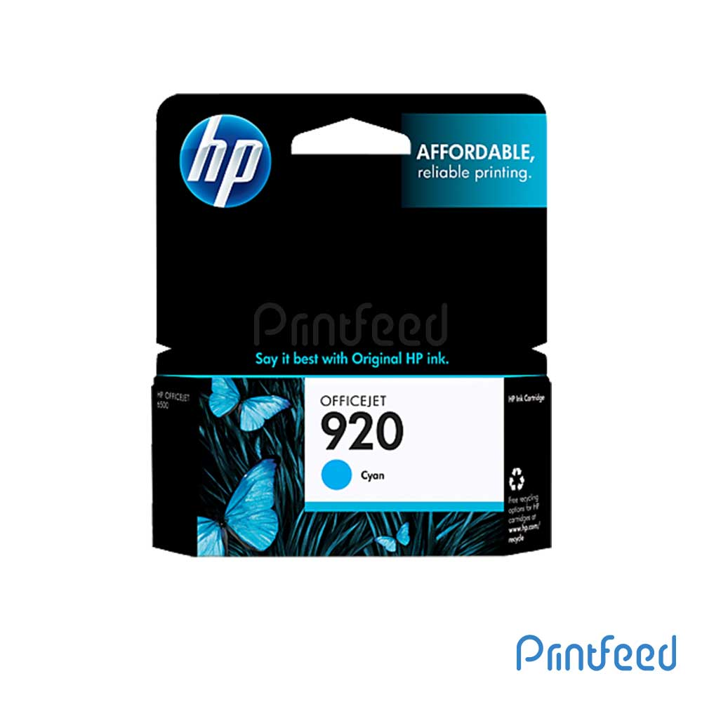 HP 920 Cyan Inkjet Print Cartridges