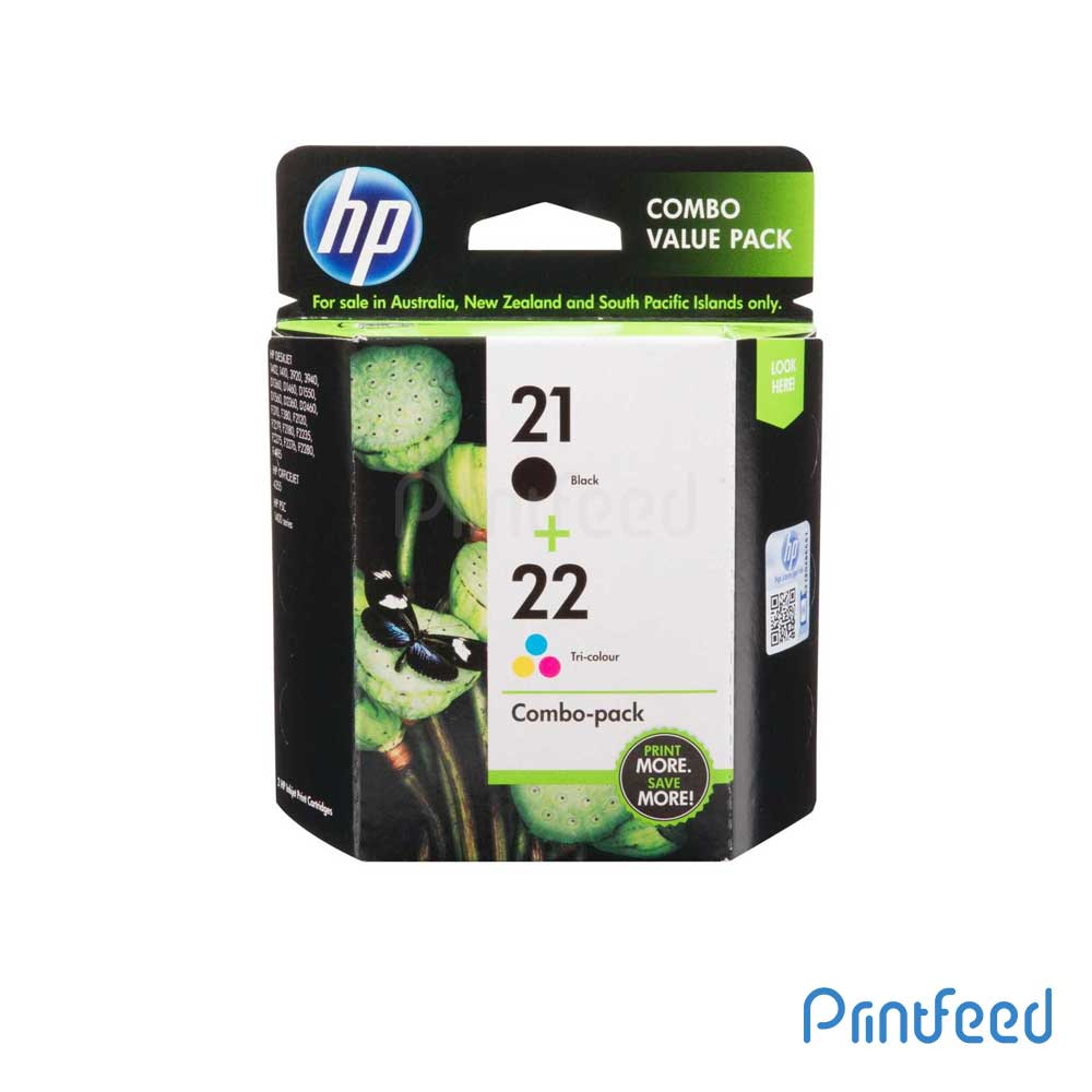 HP 21/22 Combo-pack Inkjet Print Cartridge