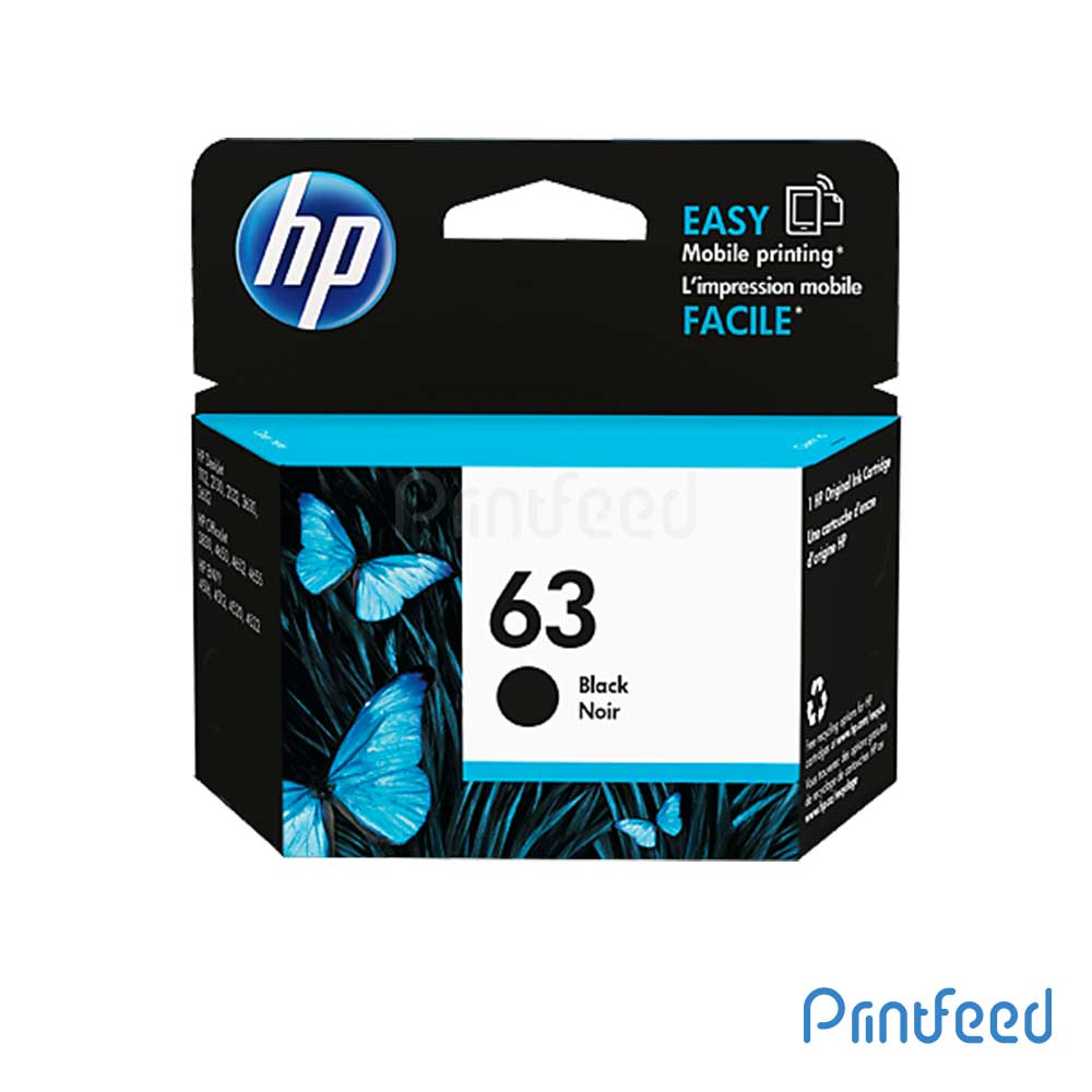 HP 63 Black Inkjet Print Cartridge