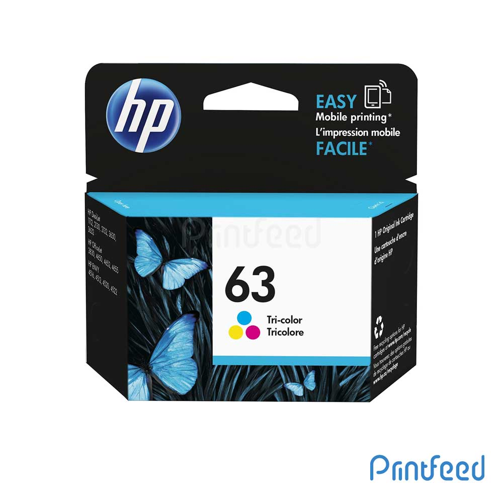HP 63 Tri-Color Inkjet Print Cartridge