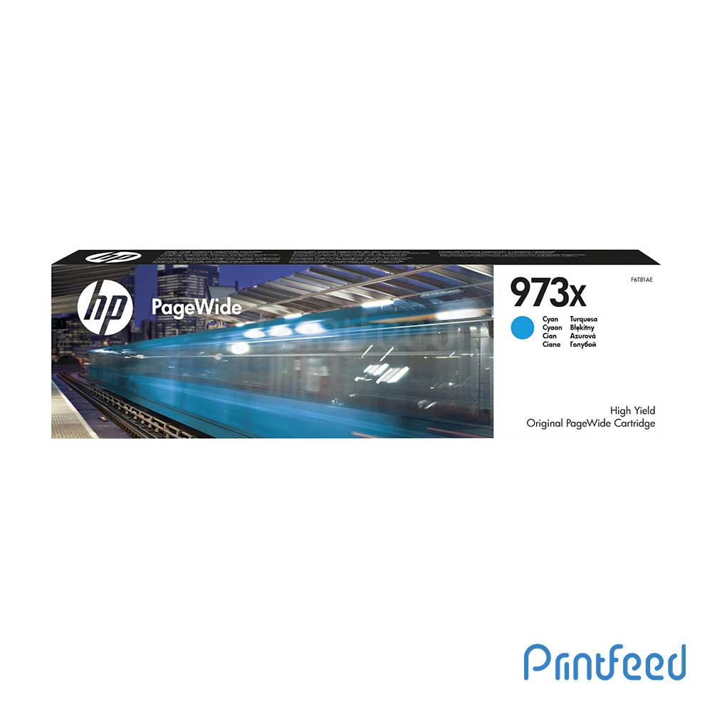 HP 973X Cyan PageWide Cartridge