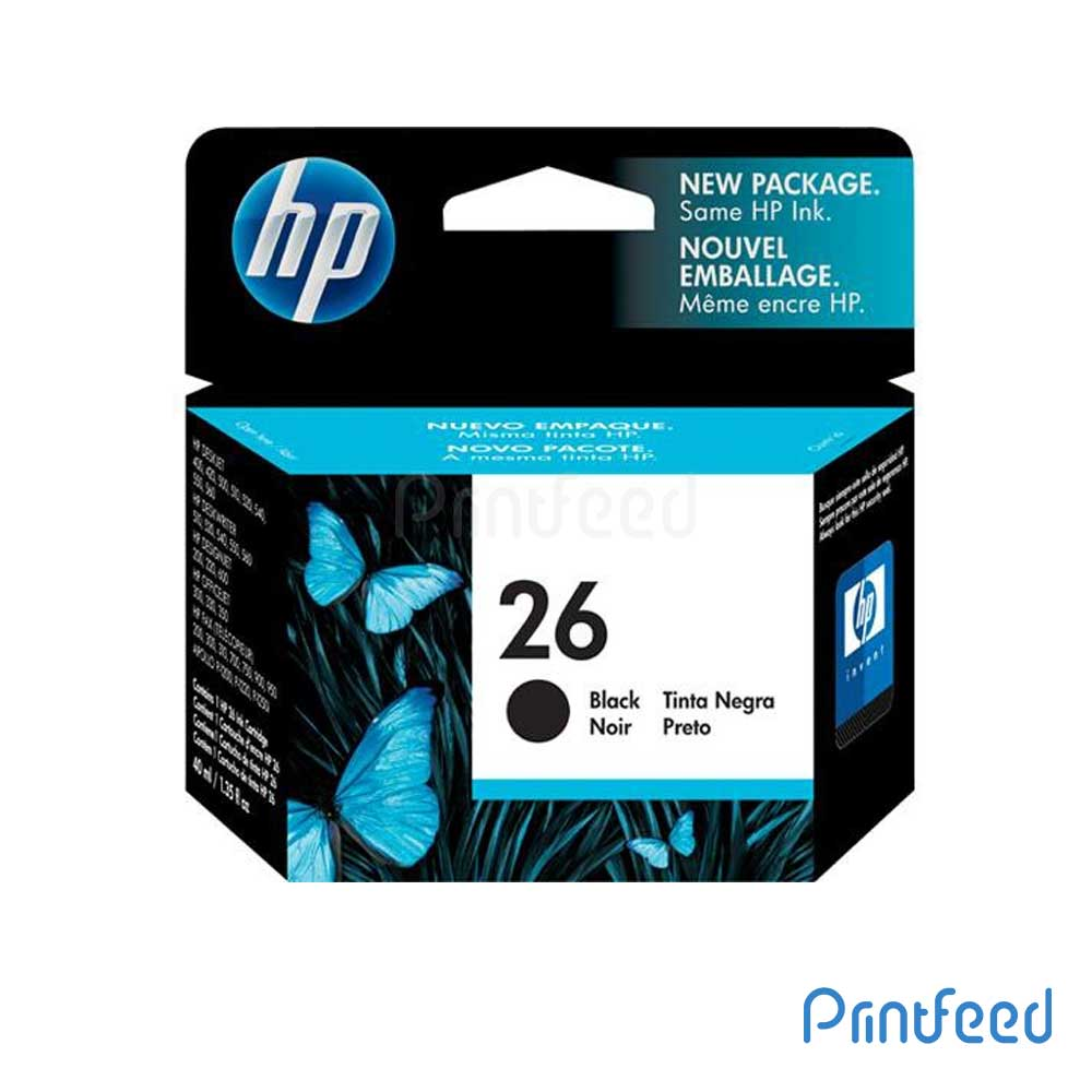 HP 26 Black Inkjet Print Cartridge