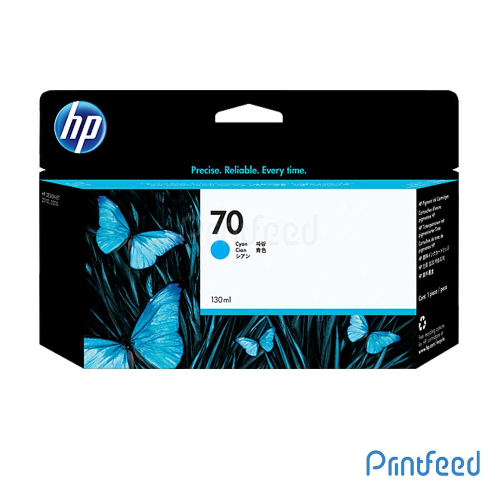 HP 70 130 ml Cyan Inkjet Print Cartridge