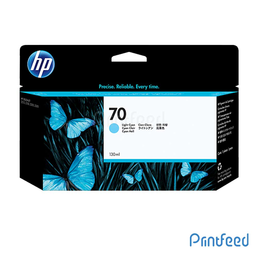 HP 70 130 ml Light Cyan Inkjet Print Cartridge