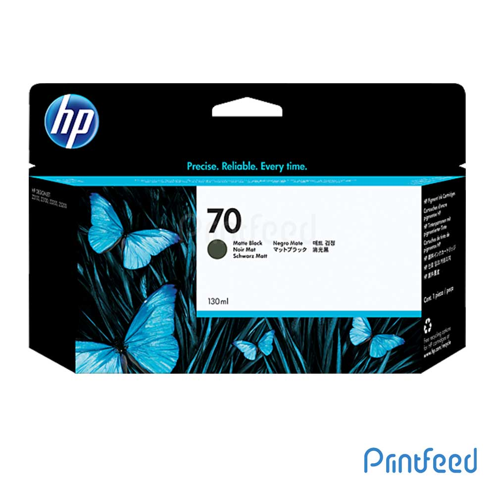 HP 70 130 ml Matte Black Inkjet Print Cartridge
