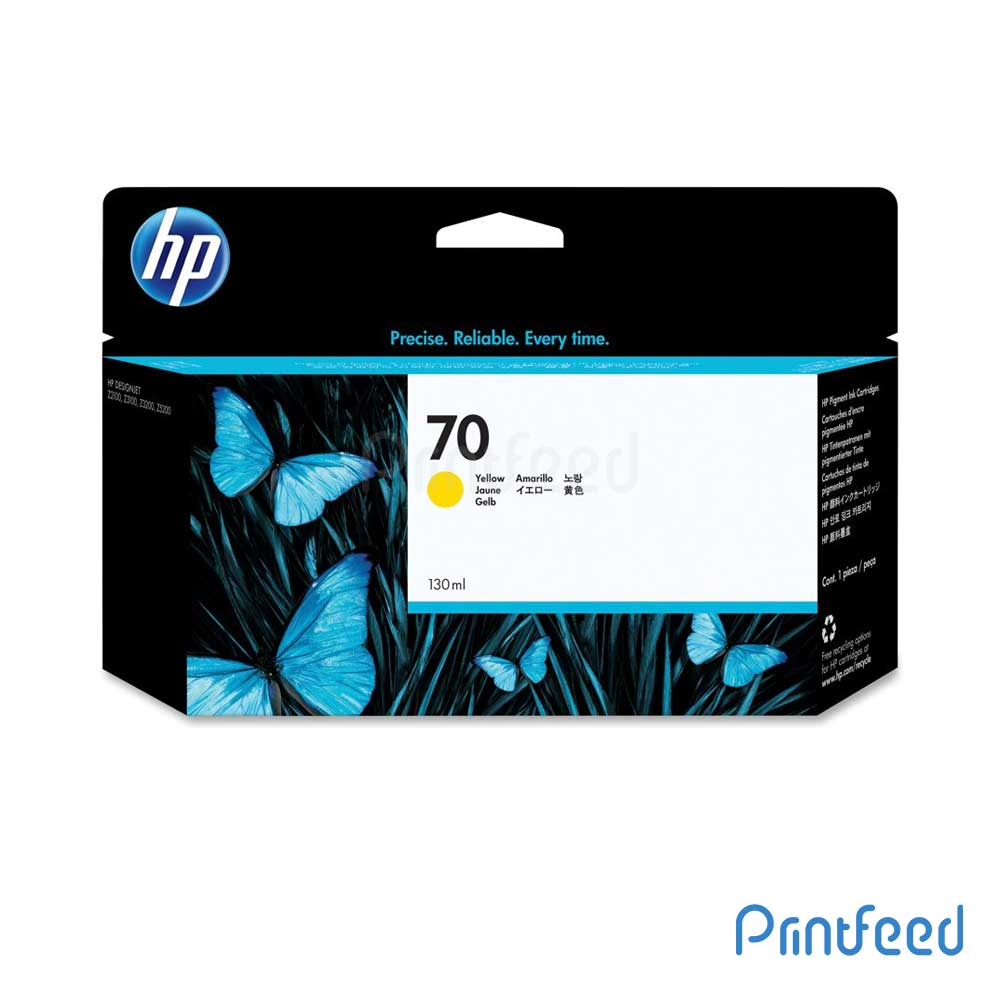HP 70 130 ml Yellow Inkjet Print Cartridge