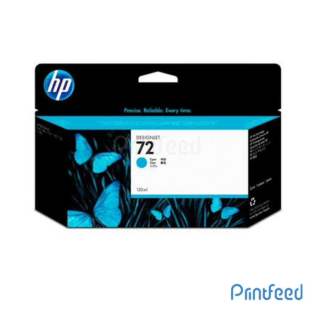 HP 72 130 ml Cyan Inkjet Print Cartridge