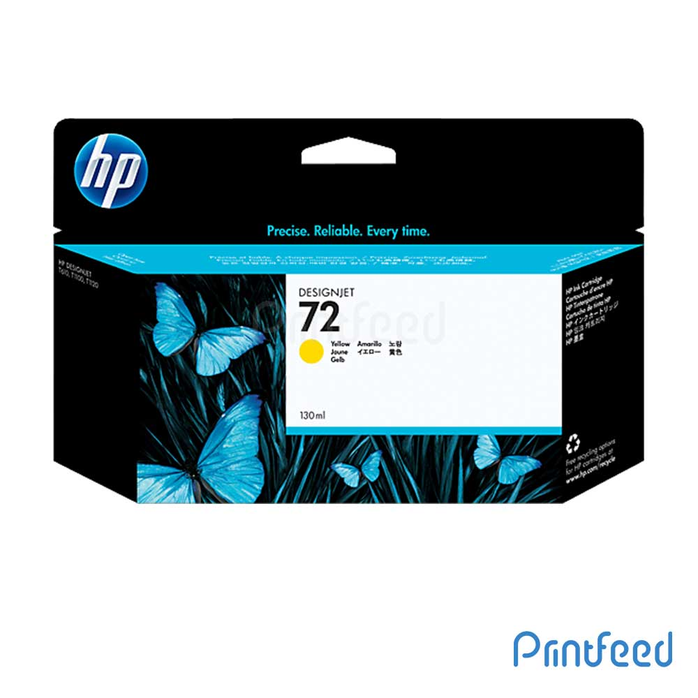 HP 72 130 ml Yellow Inkjet Print Cartridge
