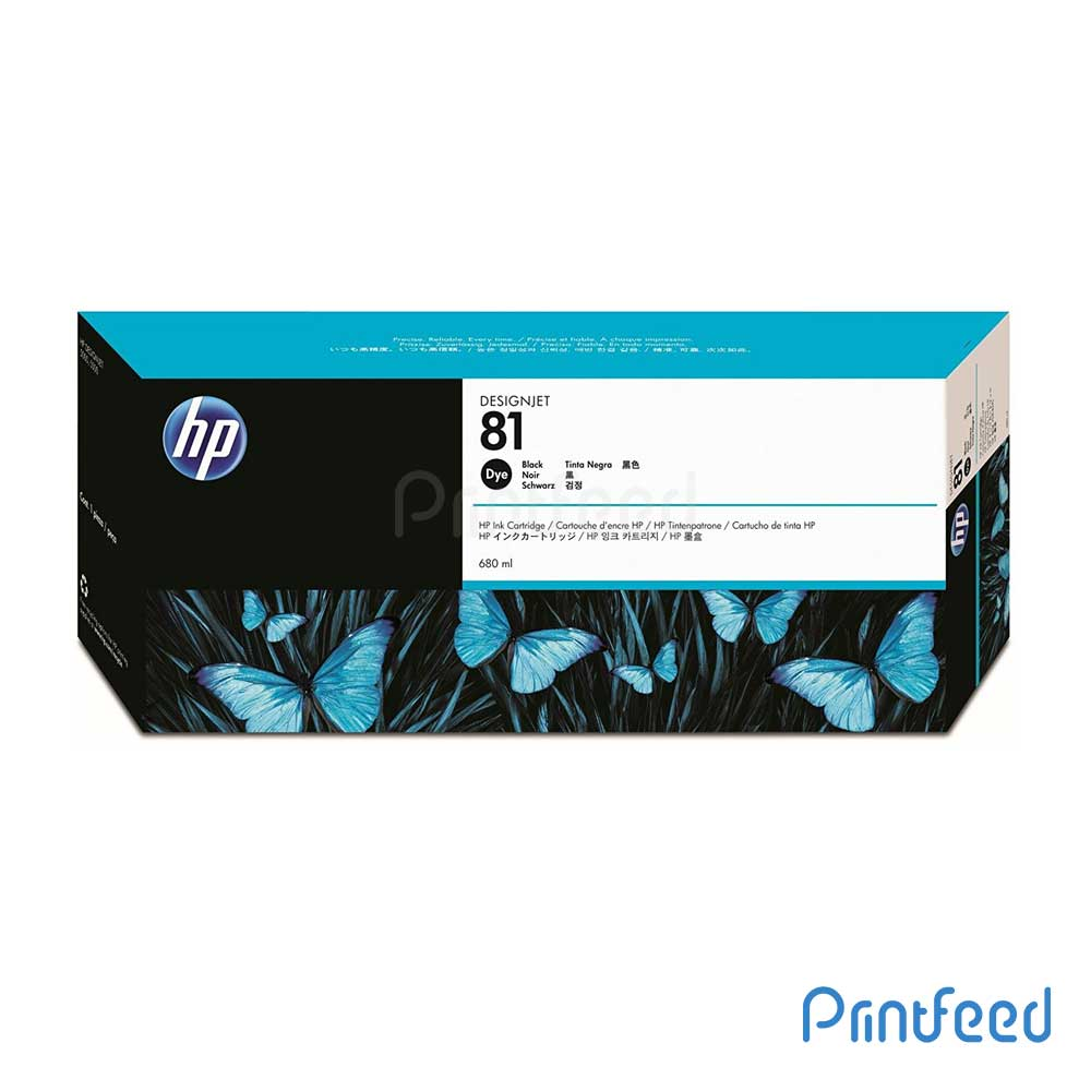 HP 81 680 ml Dye Black Inkjet Print Cartridge