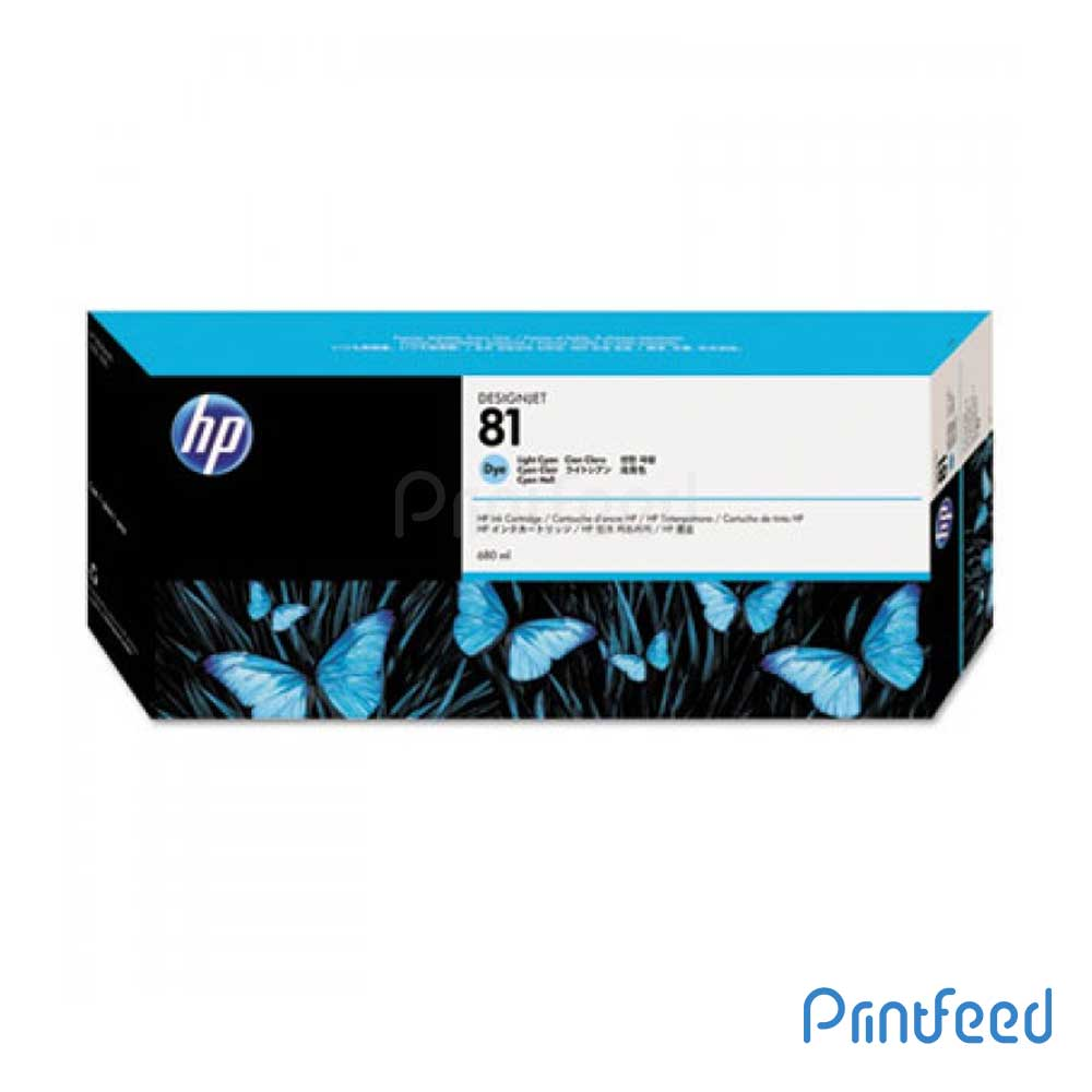 HP 81 680 ml Dye Light Cyan Inkjet Print Cartridge
