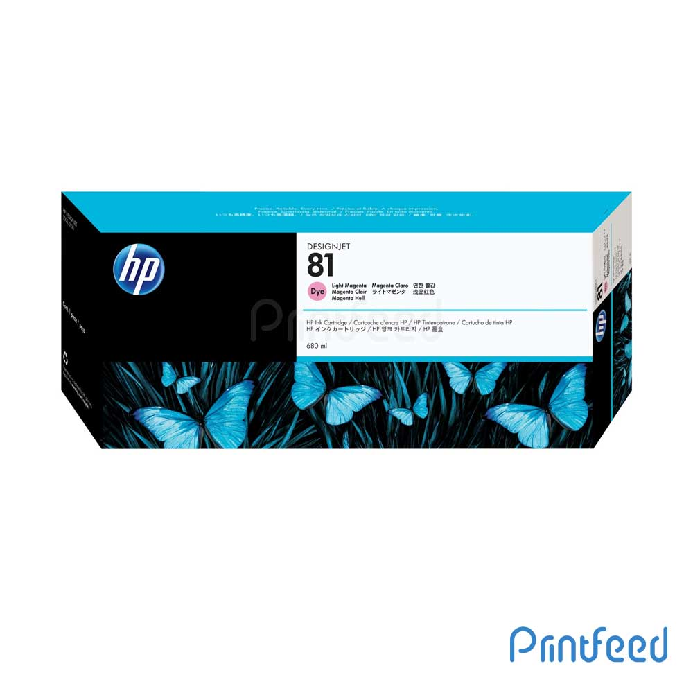 HP 81 680 ml Dye Light Magenta Inkjet Print Cartridge