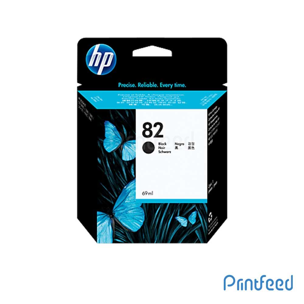 HP 82 69-ml Black Inkjet Print Cartridge