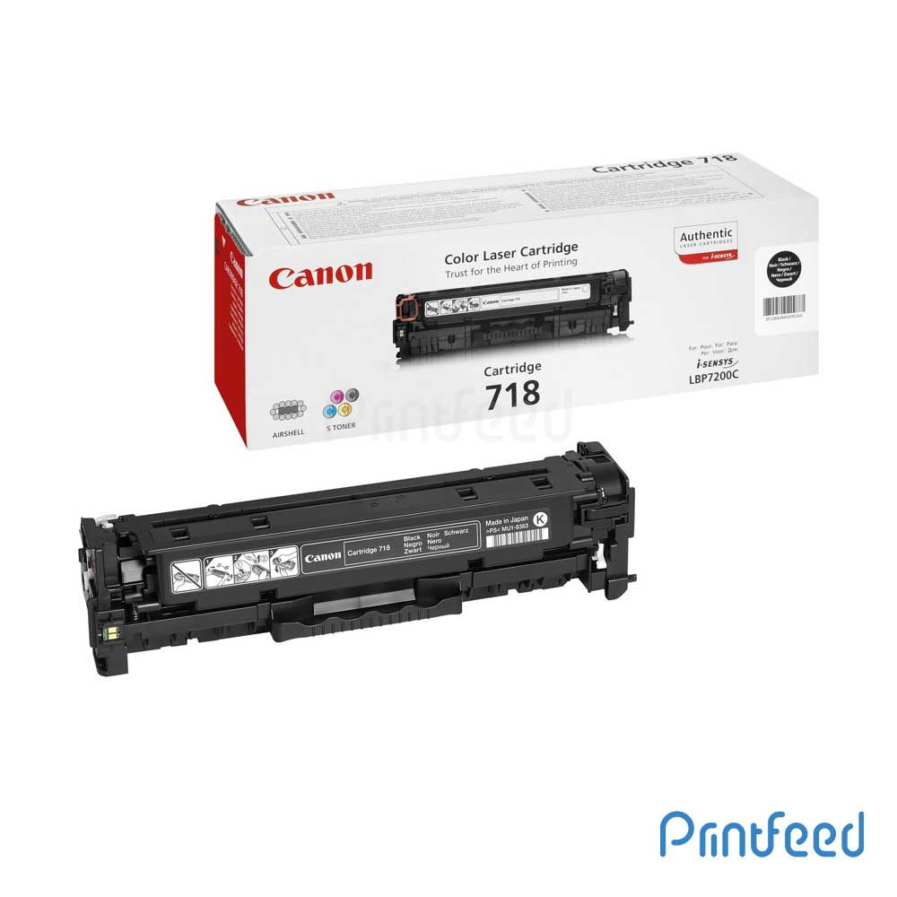 Canon 718BK Black Toner Cartridge