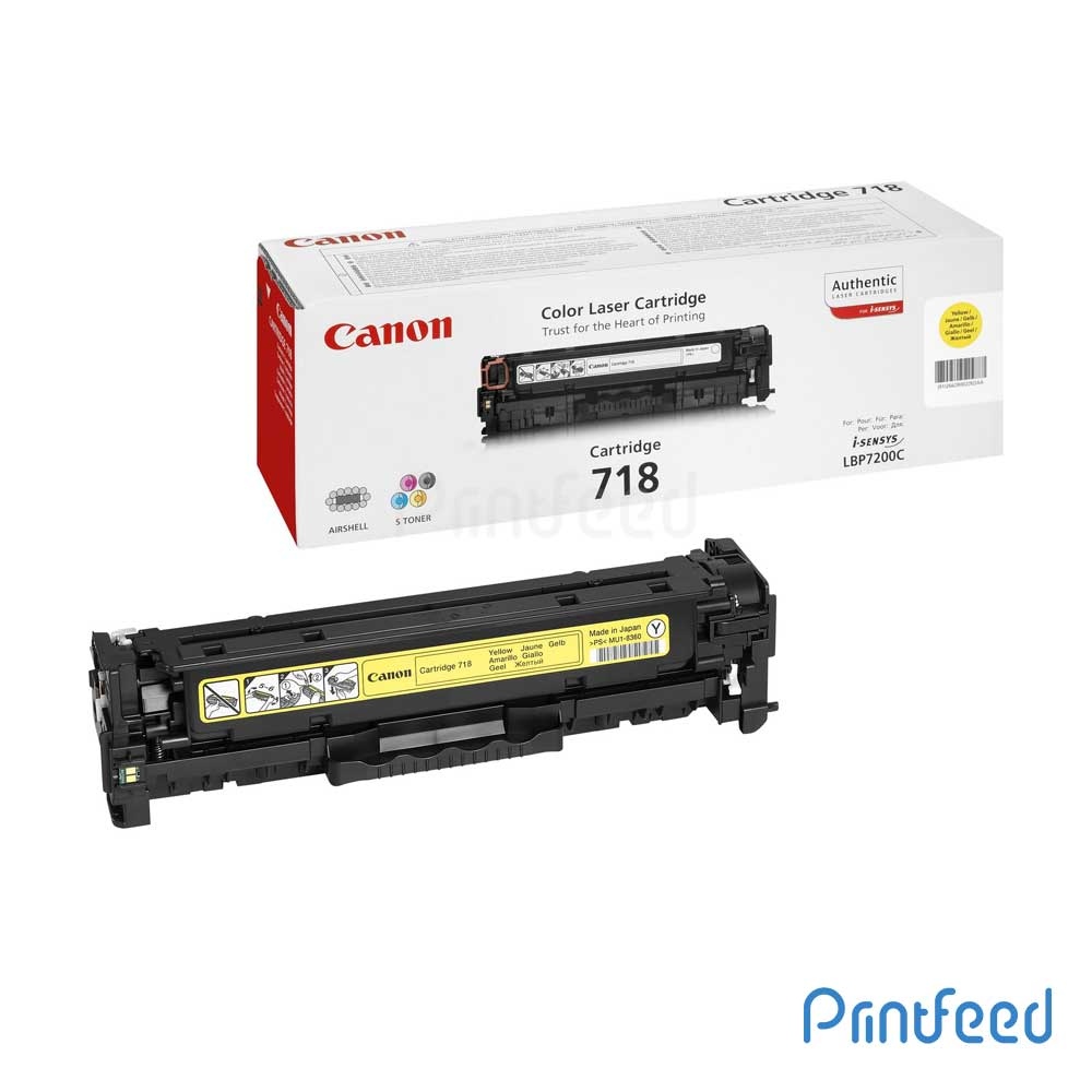 Canon 718Y Yellow Toner Cartridge