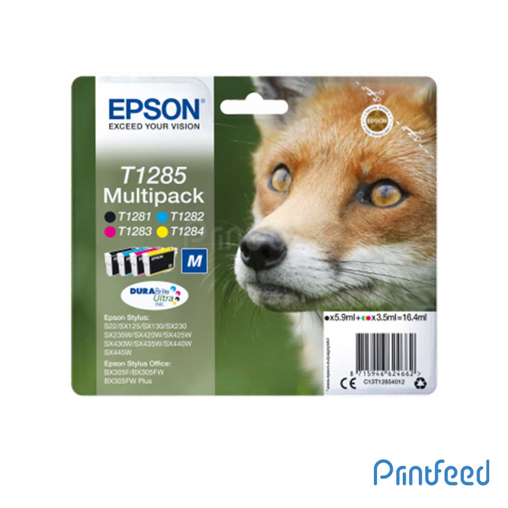 Epson T1285 MULTIPACK 4-COLOURS  DURABRITE ULTRA Ink
