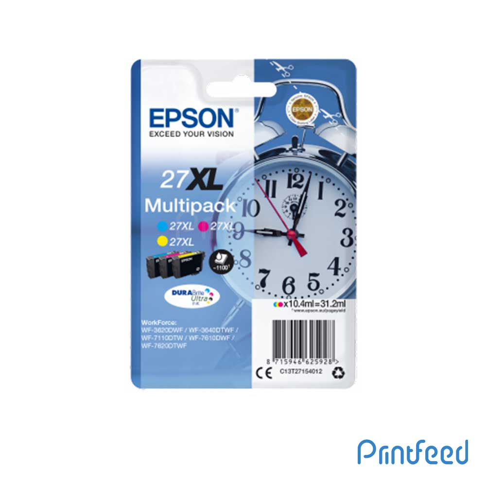 Epson 27XL MULTIPACK 3-COLOURS DURABRITE ULTRA Ink