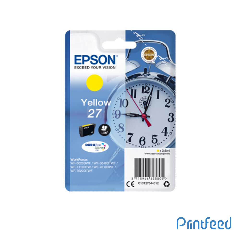 Epson 27 SINGLEPACK Yellow DURABRITE ULTRA Ink