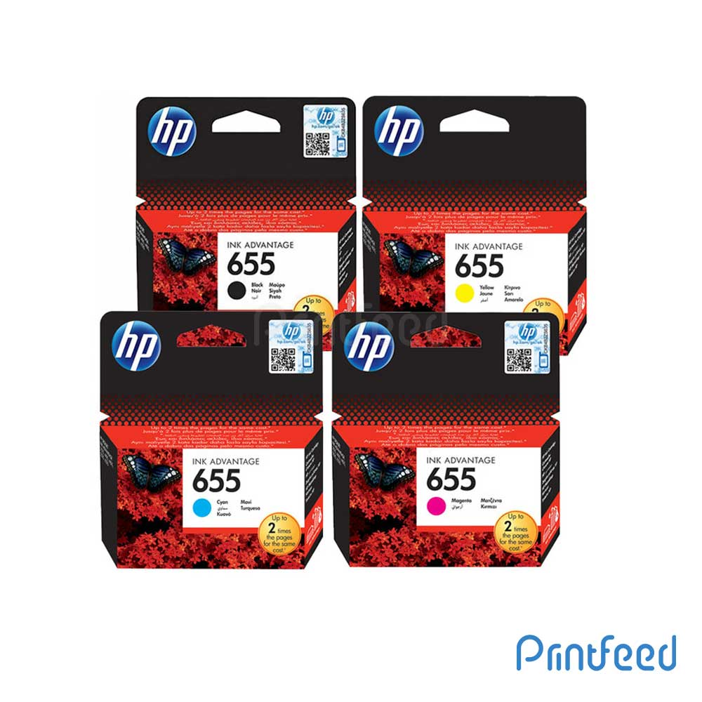 HP 655 4 Color Ink Cartridge Pack