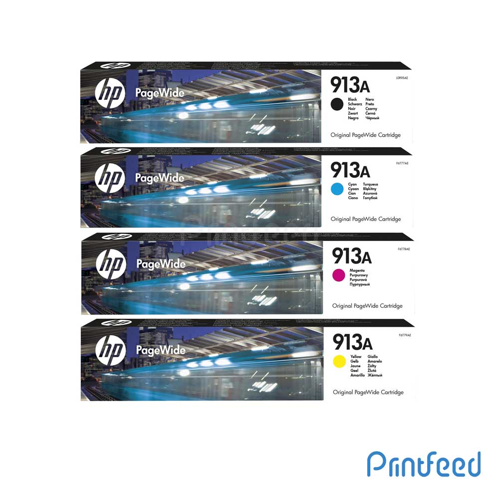 HP 913A 4 Color PageWide Cartridge Pack