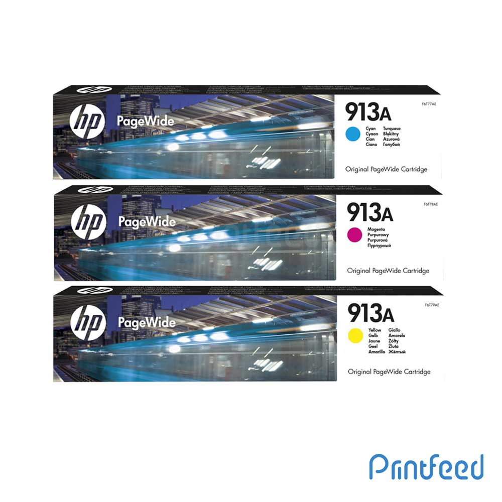 HP 913A 3 Color PageWide Cartridge Pack