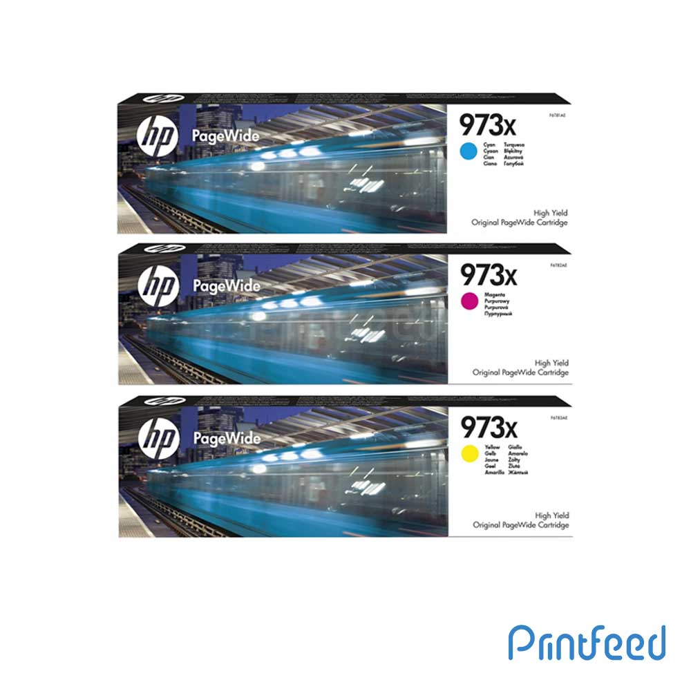 HP 973X 3 Color PageWide Cartridge Pack