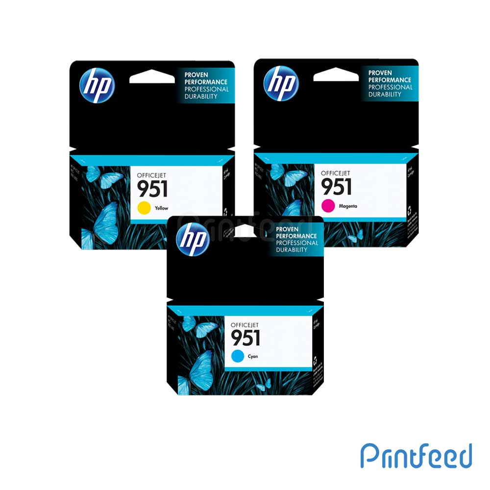 HP 951 3 Color Inkjet Cartridge Pack