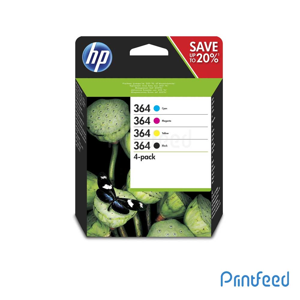 HP 364 4 Color Inkjet Print Cartridge Pack
