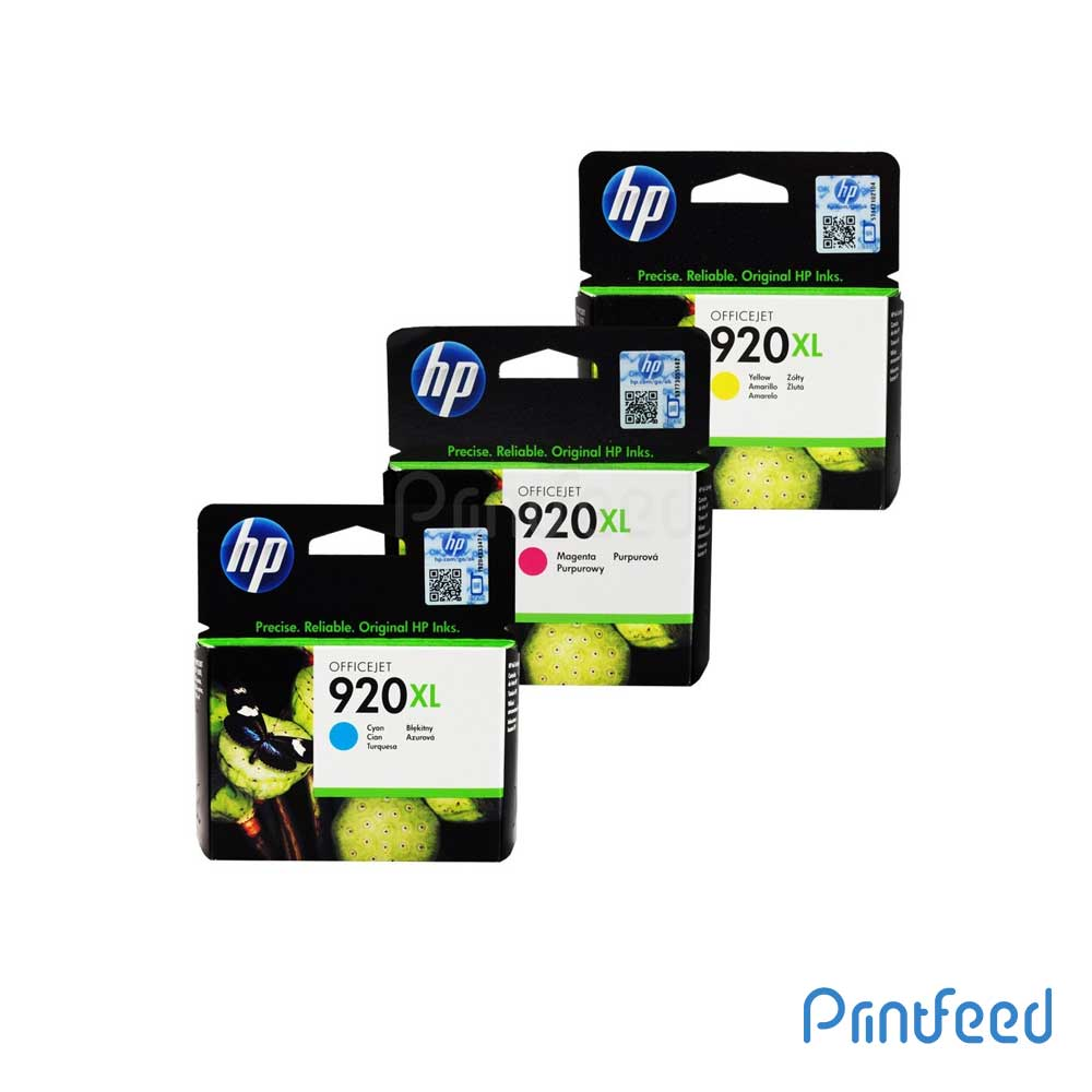 HP 920XL 3 Color Inkjet Print Cartridge Pack