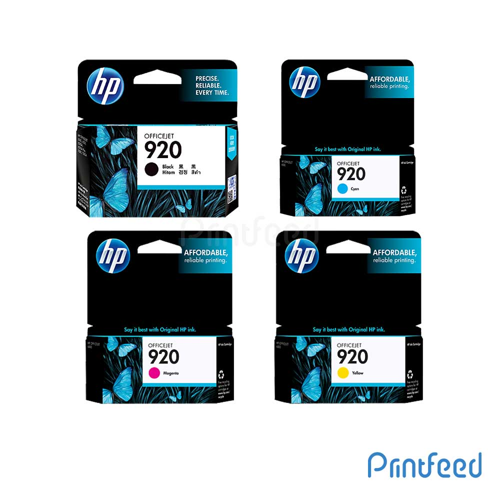 HP 920 4 Color Inkjet Print Cartridge Pack