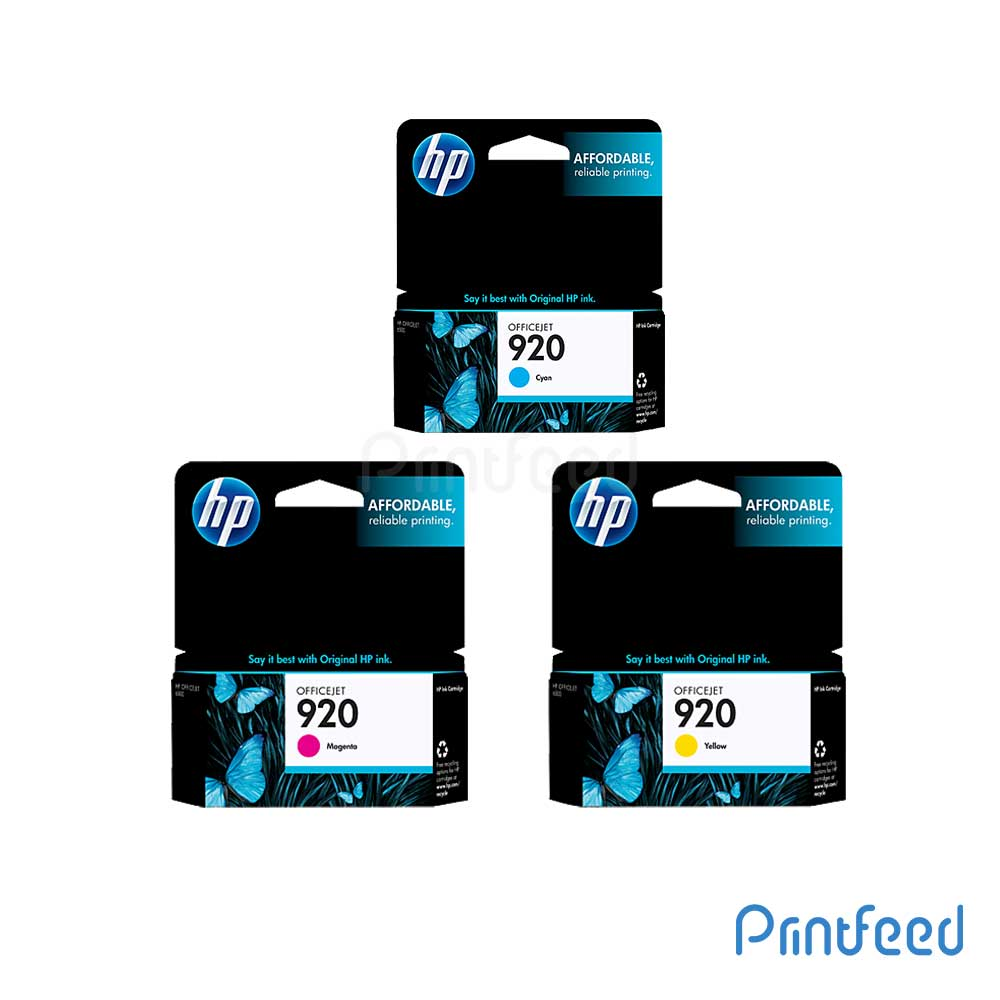 HP 920 3 Color Inkjet Print Cartridge Pack
