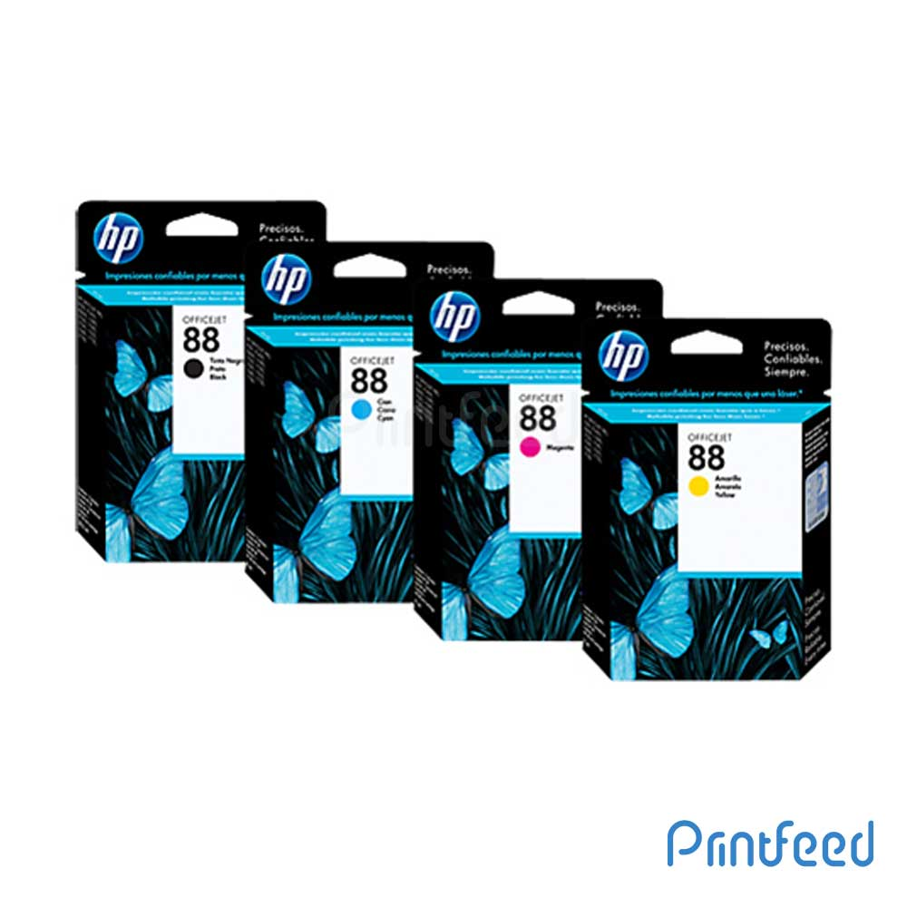 HP 88 4 Color Original Ink Cartridge Pack