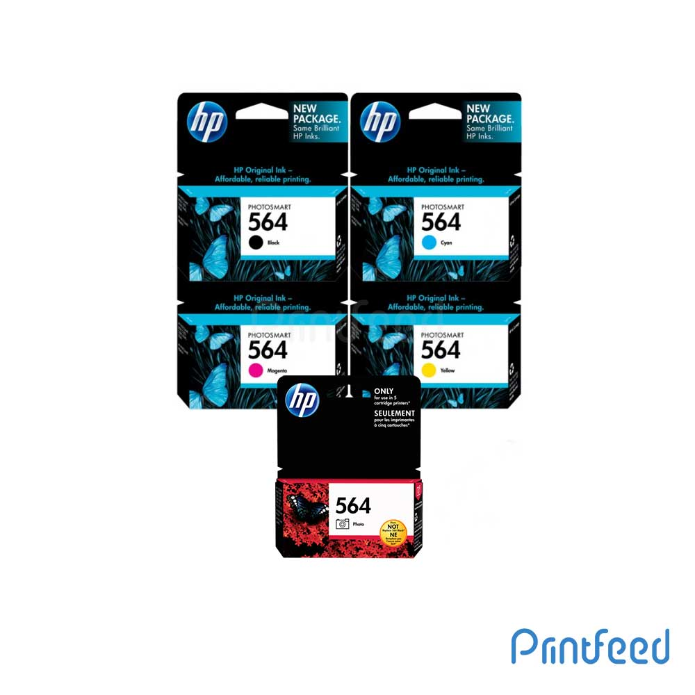 HP 564 5 Color Inkjet Print Cartridge Pack
