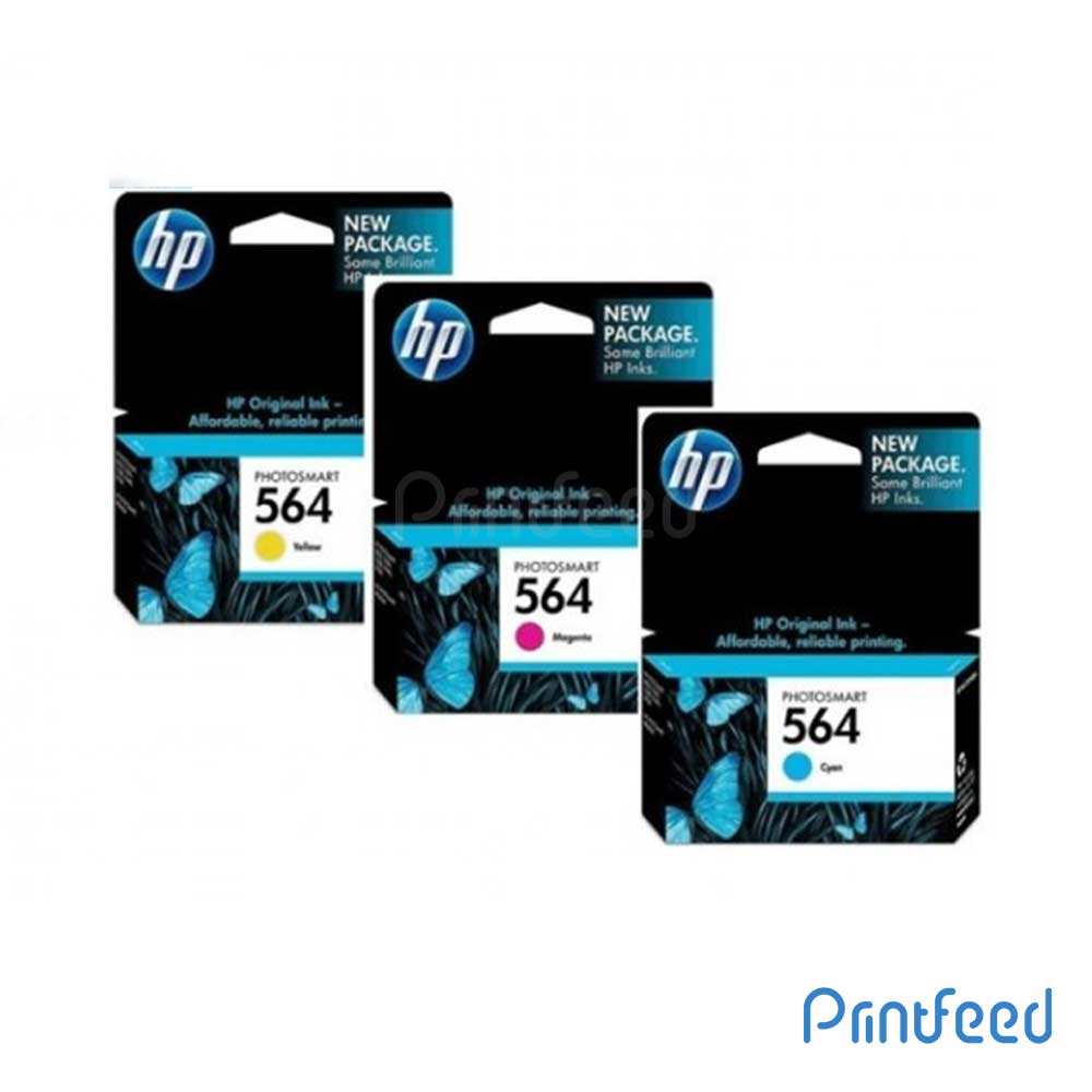 HP 564 3 Color Inkjet Print Cartridge Pack