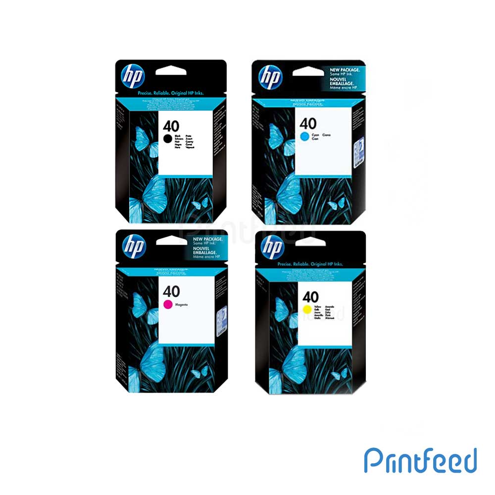 HP 40 4 Color Inkjet Print Cartridge Pack