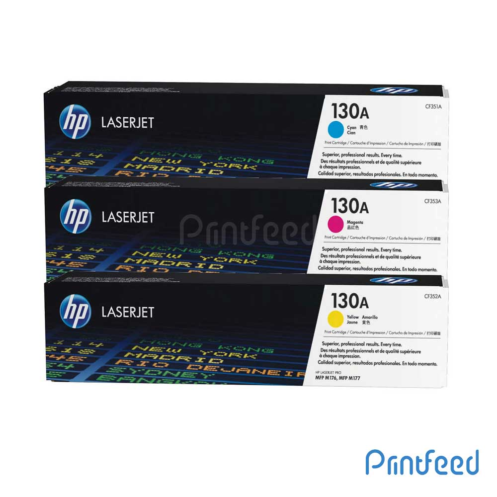 HP 130A 3 Color Laserjet Cartridge Pack