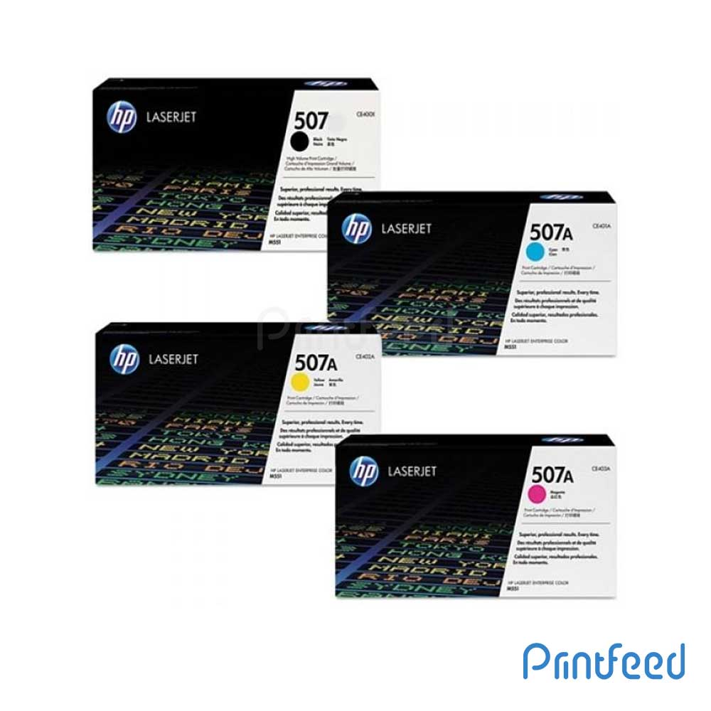 HP 507A 4 Color Laserjet Cartridge pack