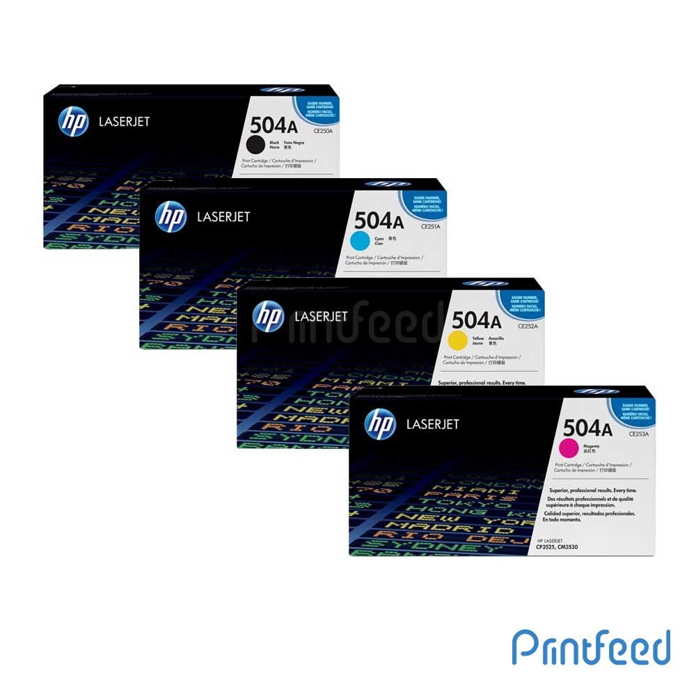HP 504A 4 Color Laserjet cartridge Pack
