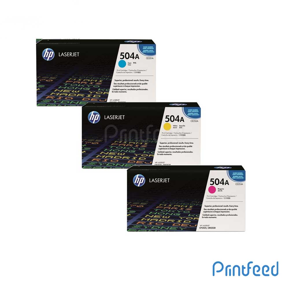 HP 504A 3 Color Laserjet cartridge Pack