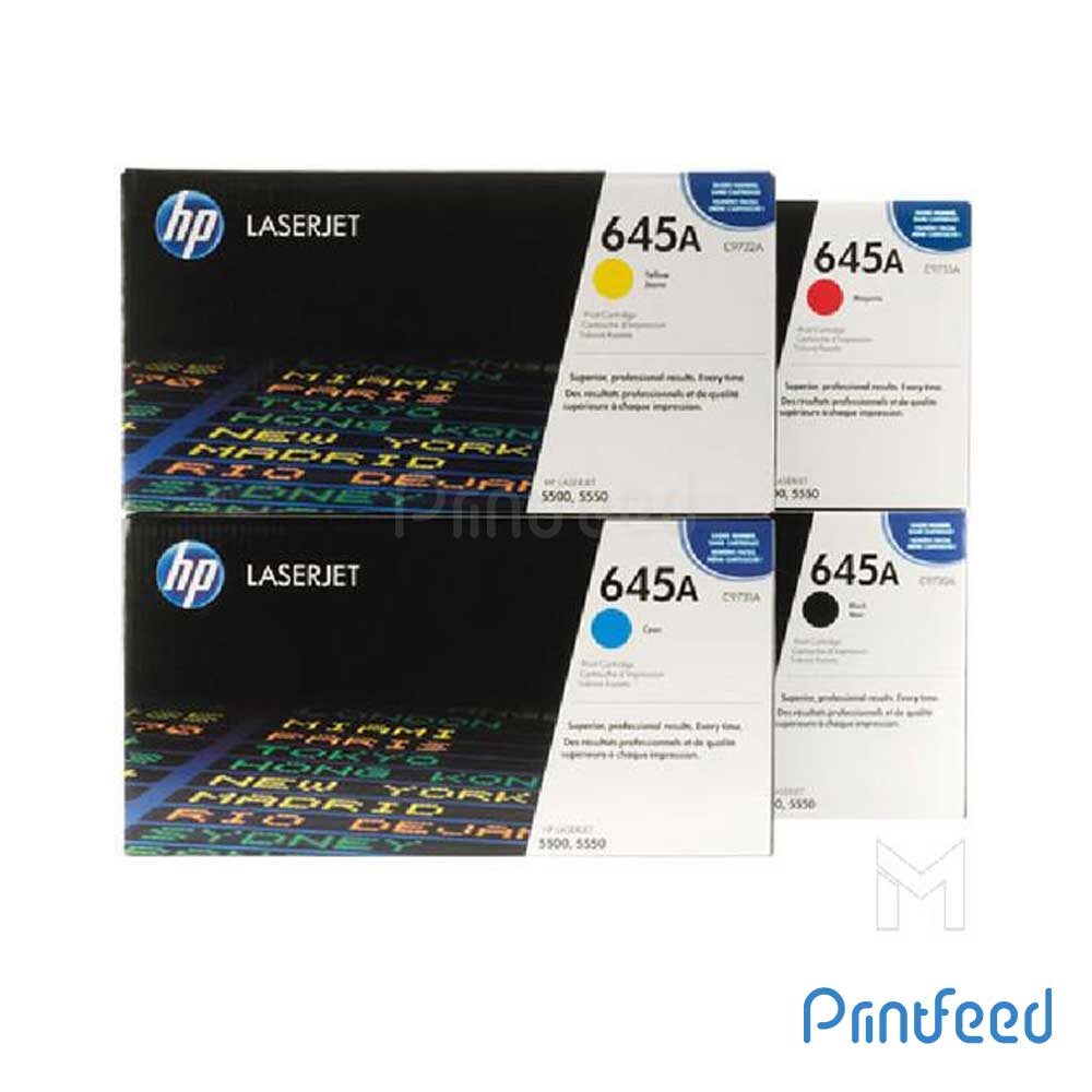 HP 645A 4 Color Laserjet cartridge Pack