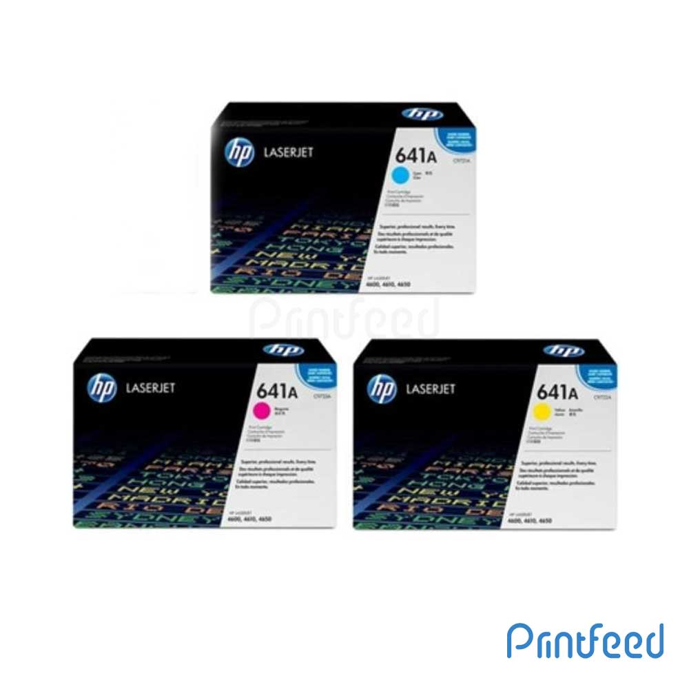 HP 641A 3 Color Laserjet cartridge Pack