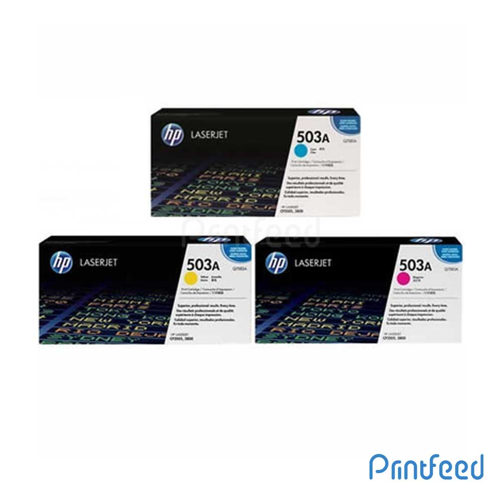 HP 503A 3 Color Laserjet cartridge Pack